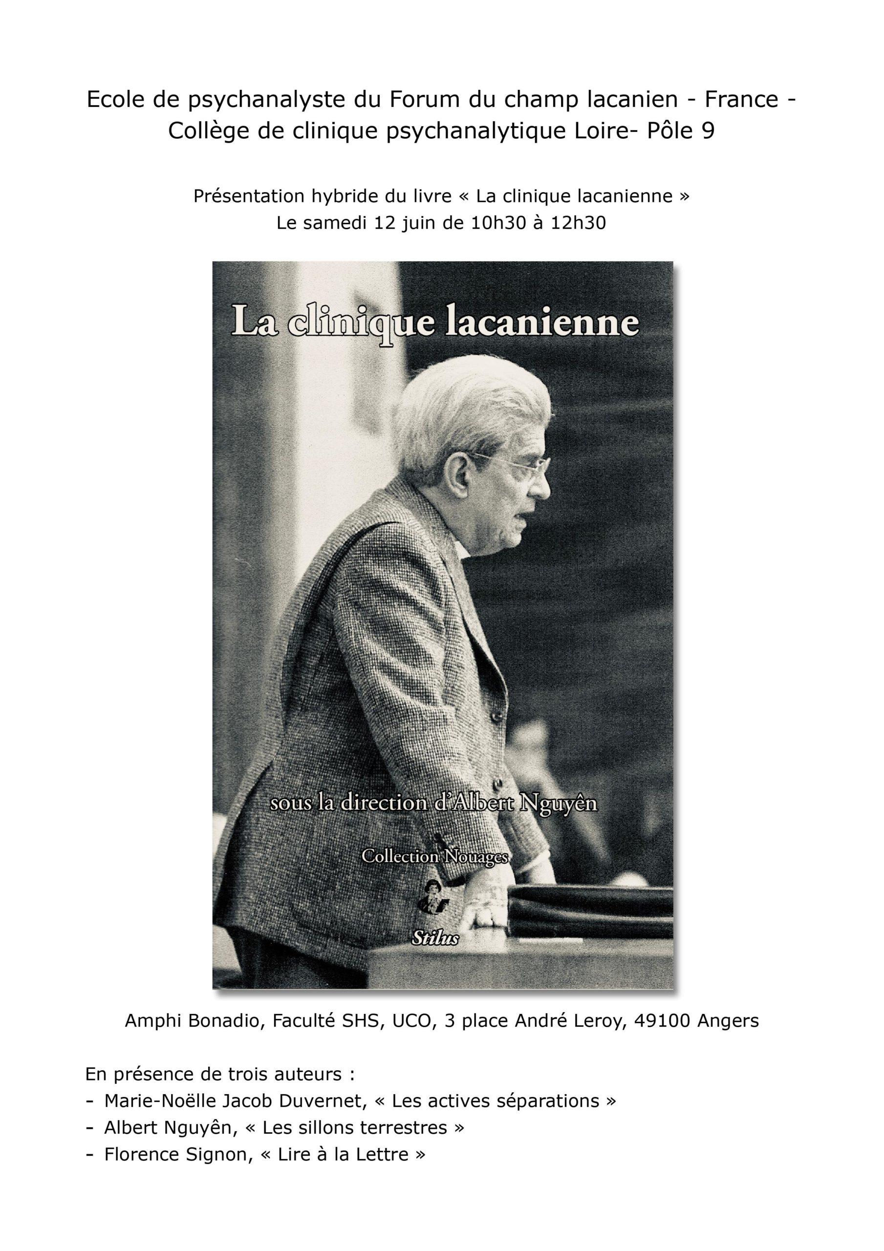 """Présentation hybride du livre """"La clinique lacanienne"""""""
