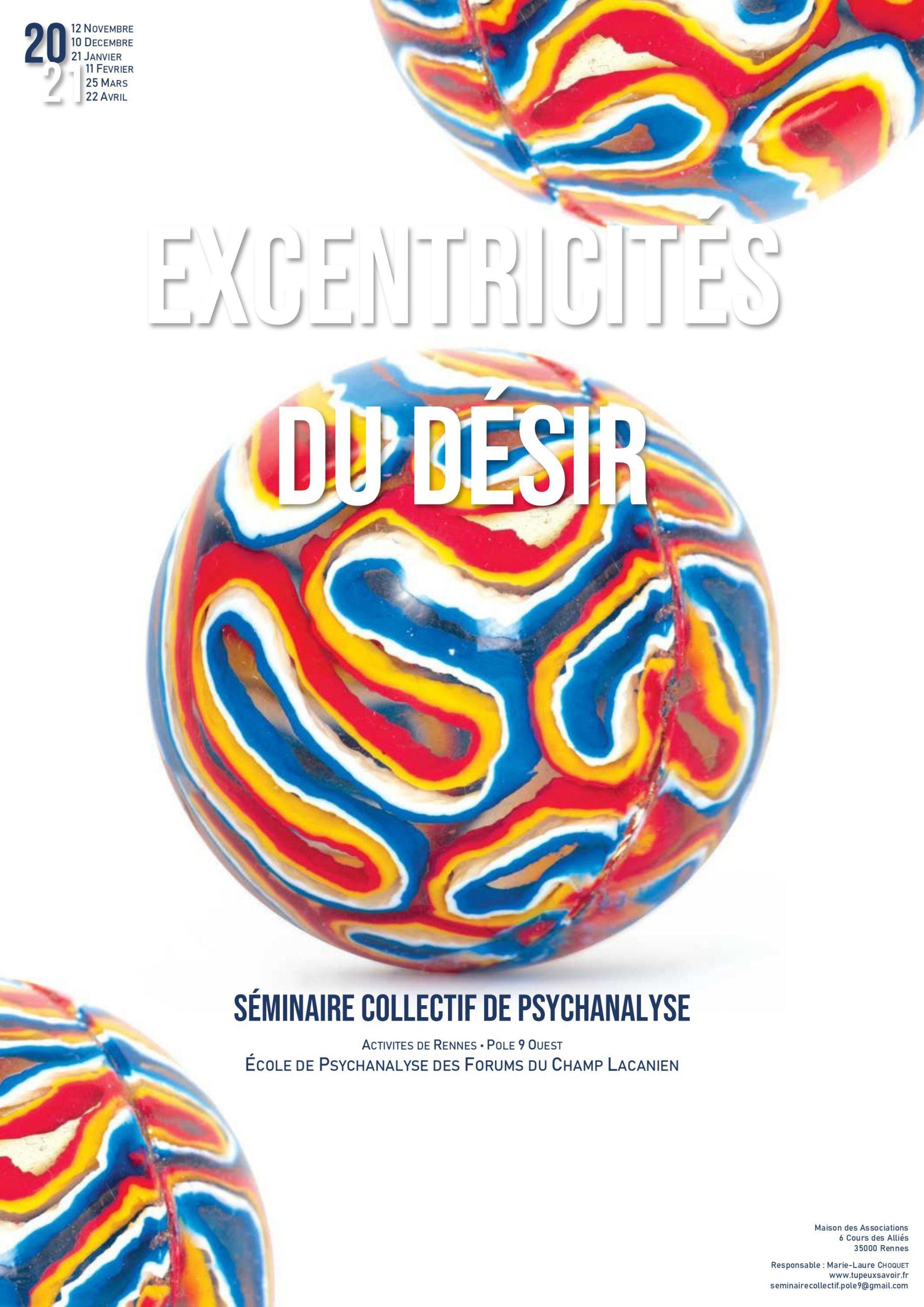 """Séminaire collectif """"Excentricités du désir"""""""